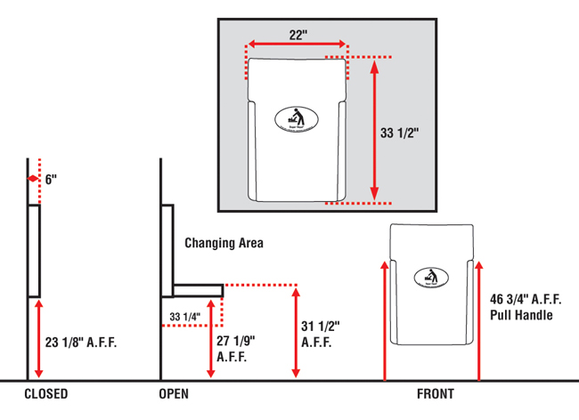 ada commercial sink diagram